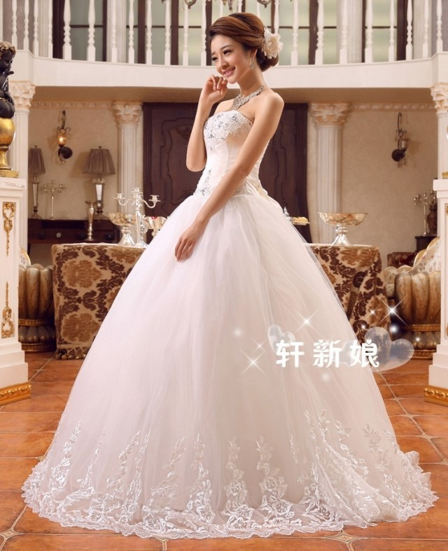 Wedding Dress Bridal Lace Bow Tie Slim New Drill 2017 In Dresses From Weddings Events On Aliexpress Alibaba