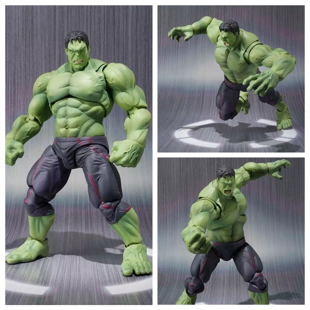 NEW hot Marvel Comics 20cm the avengers Super hero hulk movable action figure toys Christmas gift doll with box new hot 22cm avengers hulk pants are cloth action figure toys collection christmas gift doll