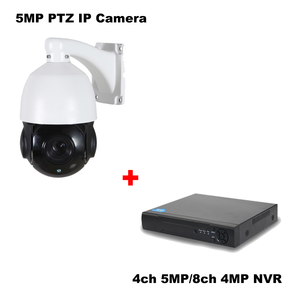 Mini h.264/265 5MP 4MP 2MP IP PTZ Caméra Onvif 30X Zoom PTZ IP Caméra + 4ch 5MP 8ch 4MP 265 onvif NVR réseau enregistreur vidéo