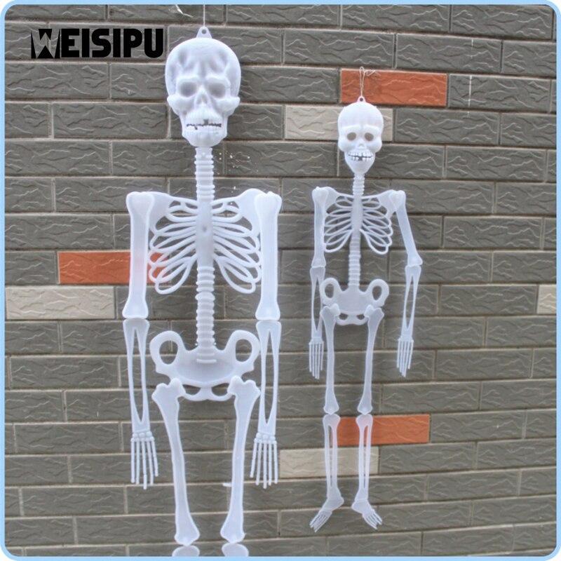 weisipu 1pcs glow skull skeleton haunted house halloween decoration supplies luminous skeleton party diy decor hot
