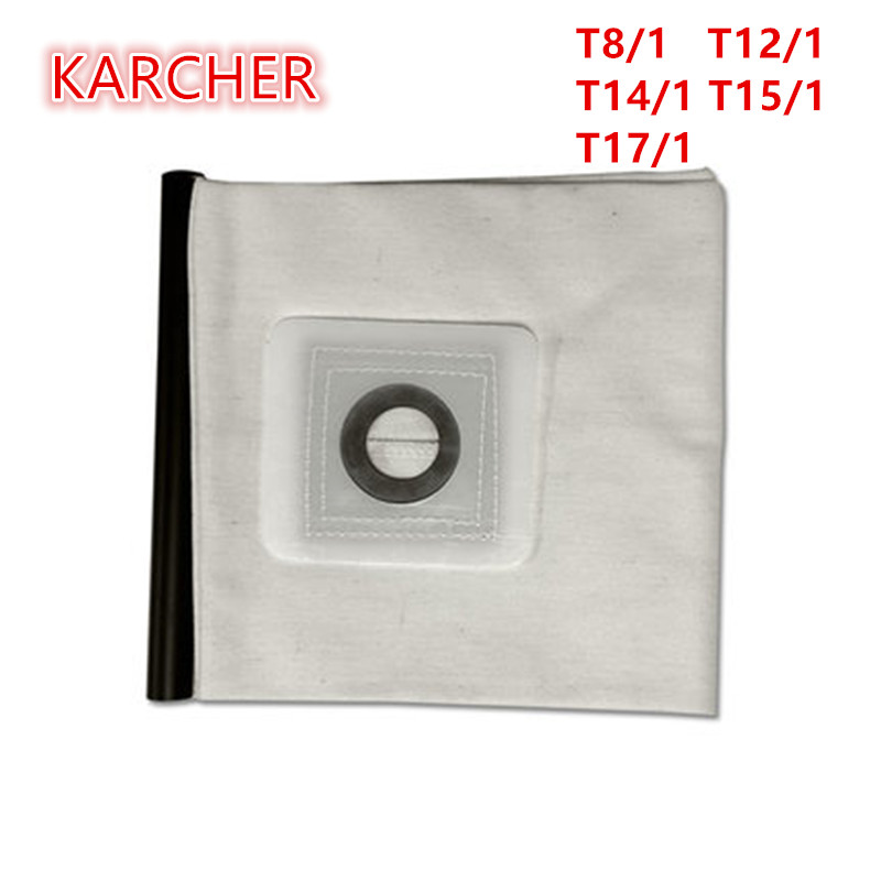 High quality Washable Vacuum Cleaner parts For KARCHER VACUUM CLEANER Cloth DUST Filter BAGS T8/1 T12/1 T14/1 T15/1 T17/1 high quality vacuum cleaner air inlet filters washable efficient filter vacuum cleaner parts fc5823 fc5826 fc5828 30
