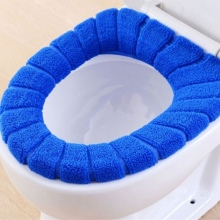 Soft Toilet Seat Cover Cute Lid Top Warmer Washable Bathroom Product
