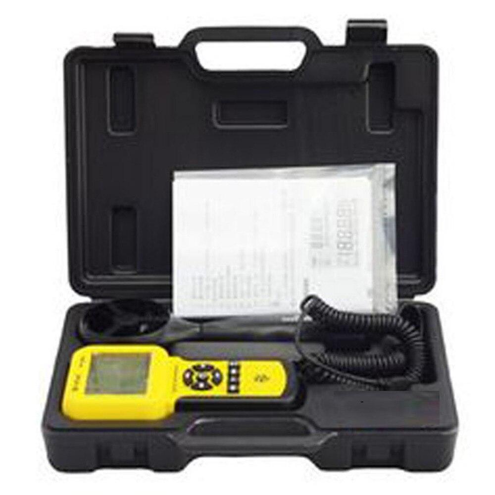 HoldPeak HP-836A compteur de Volume d'air à vitesse de vent numérique anémomètre portable avec enregistreur de données et étui de transport - 4
