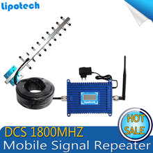 LCD Display !!70dB Gain ALC GSM 1800 mHz Cell Phone Signal Repeater, DCS Mobile Signal Booster/ Amplifier with Cable + Antenna