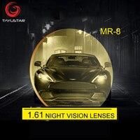 1.61 aspナイトビジョンメガネレンズ偏光黄レンズナイトビジョン用運転用運転アンチグレア100%処方len