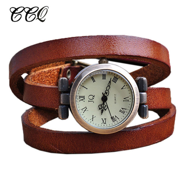 Punk Roma Header Womens Genuine Leather Watch Ladies Wristwatch Men Bracelet Wat