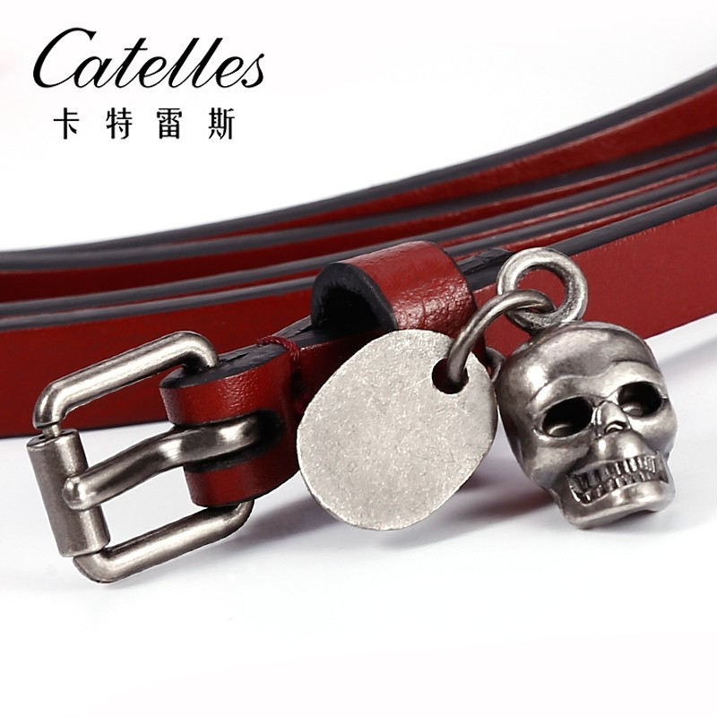 CASTELLES Fashion Leather Belt For Women Ladies Genuine Leather Luxury Designer Female Belts High Quality Woman Cinturones Mujer (1)