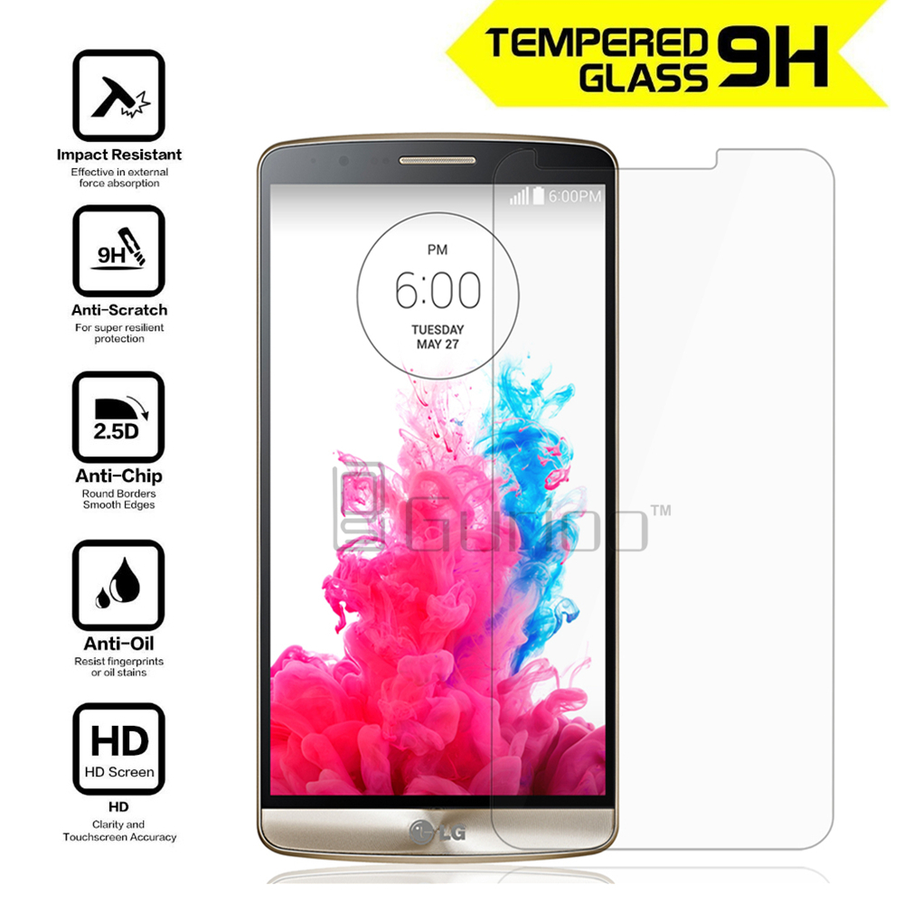 2.5D Explosion-Proof Protective Screen Guard Tempered Glass Film For LG G3 D855 D850 G4 Screen Protector Round Edge For LG G3 image