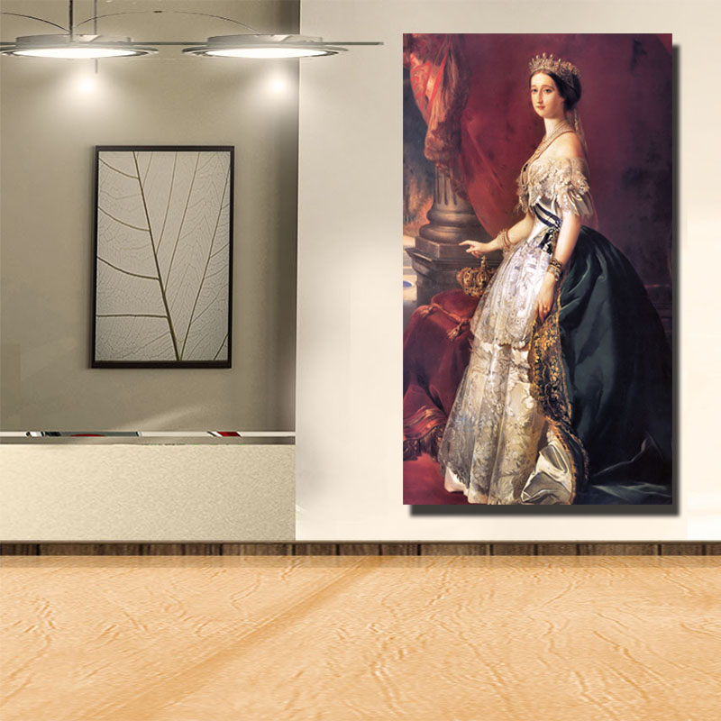 Queen <font><b>Isabella</b></font> Of Castile Figure Paintings European Court Oil Paintings Replica Wall Art Posters And Prints For <font><b>Bed</b></font> Room Decor