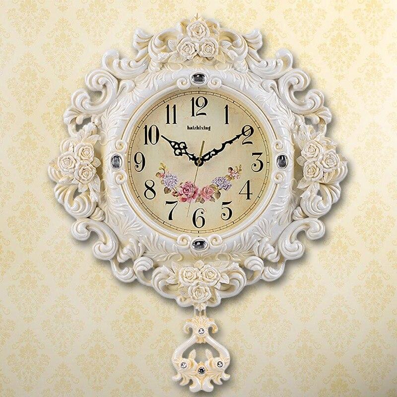Crafts Arts Home decoration Sea star 20 inch European retro swing clock room simple fashion font