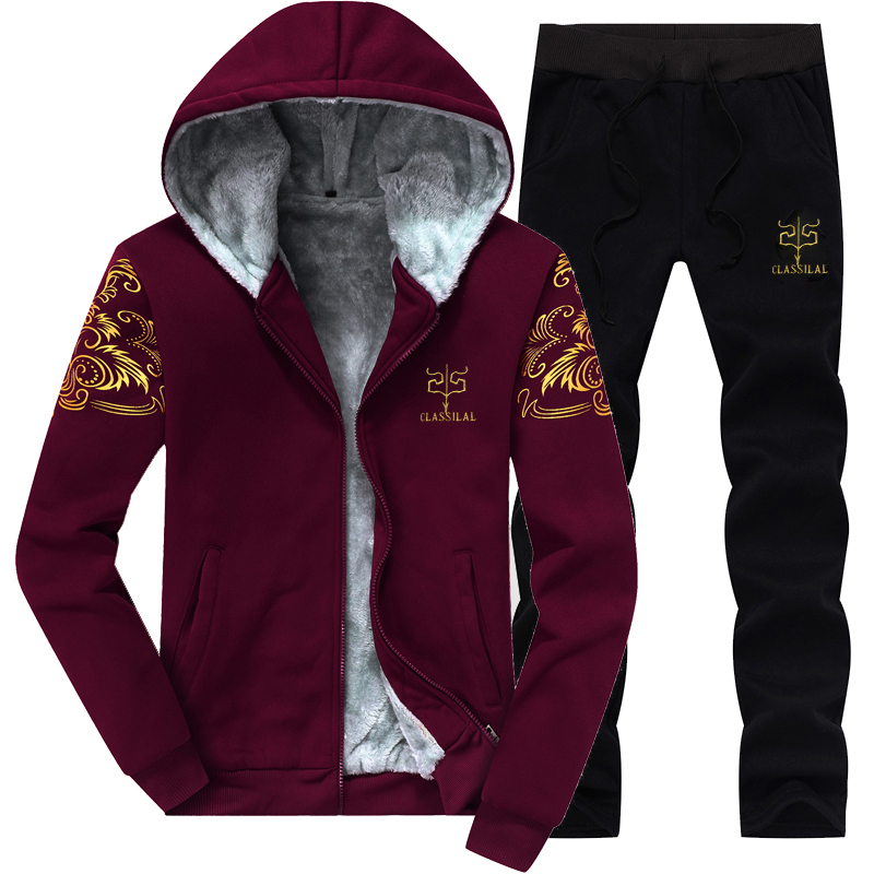 MYAZHOU 2018 Spring Autumn Mens Leisure Hoodies Sweatshirts Sets , Fashion printing Winter Plus velvet Mens suit sets s-4xl