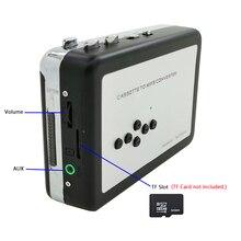 Кассетный плеер портативный, Автономная Кассетная лента в MP3 конвертер, Walkman ленты рекордер через TF карту с наушниками