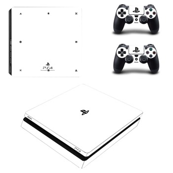 Reine Weiße Farbe Ps4 Slim Haut Aufkleber Für Sony Playstation 4 Konsole Und Controller Aufkleber Ps4 Slim Aufkleber