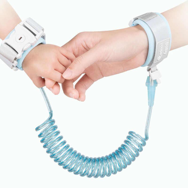 1 pc Crianças Cinto de Segurança Da Criança Do Bebê Cinto Anti-perdido Andando Aprendizagem Ajudando Mão Alça de Pulso Coleira