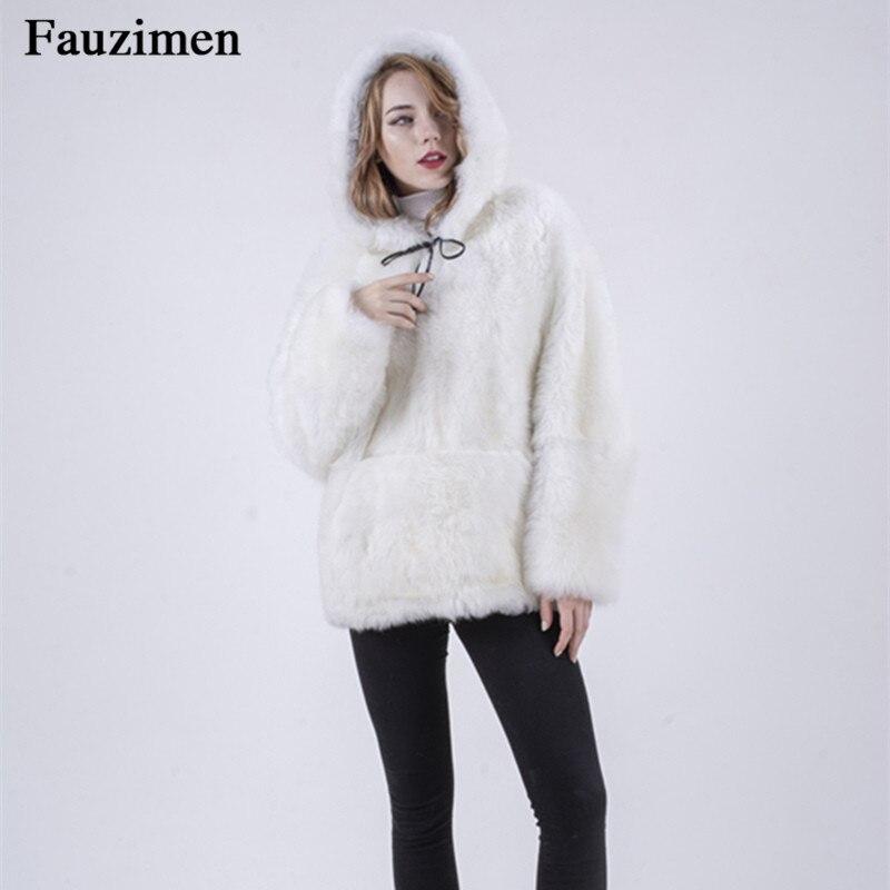 Hiver Fourrure Qualité De Agneau Nouvelle Femmes Chine Manteau Double Capot Pull Usine Face Haute Automne Blanc En Cuir xq4vwTR