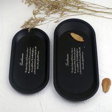 Сервировочный поднос Фруктовая тарелка мелкие предметы ювелирные изделия PlateCosmetic Дисплей Поднос Черный Нержавеющая сталь кухонный поднос для хранения тарелок