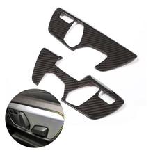For BMW X1 F48 2016 2017 2018 2pcs Carbon Fiber Texture / Sliver Car Interior Seat Adjust Panel Switch Button Cover