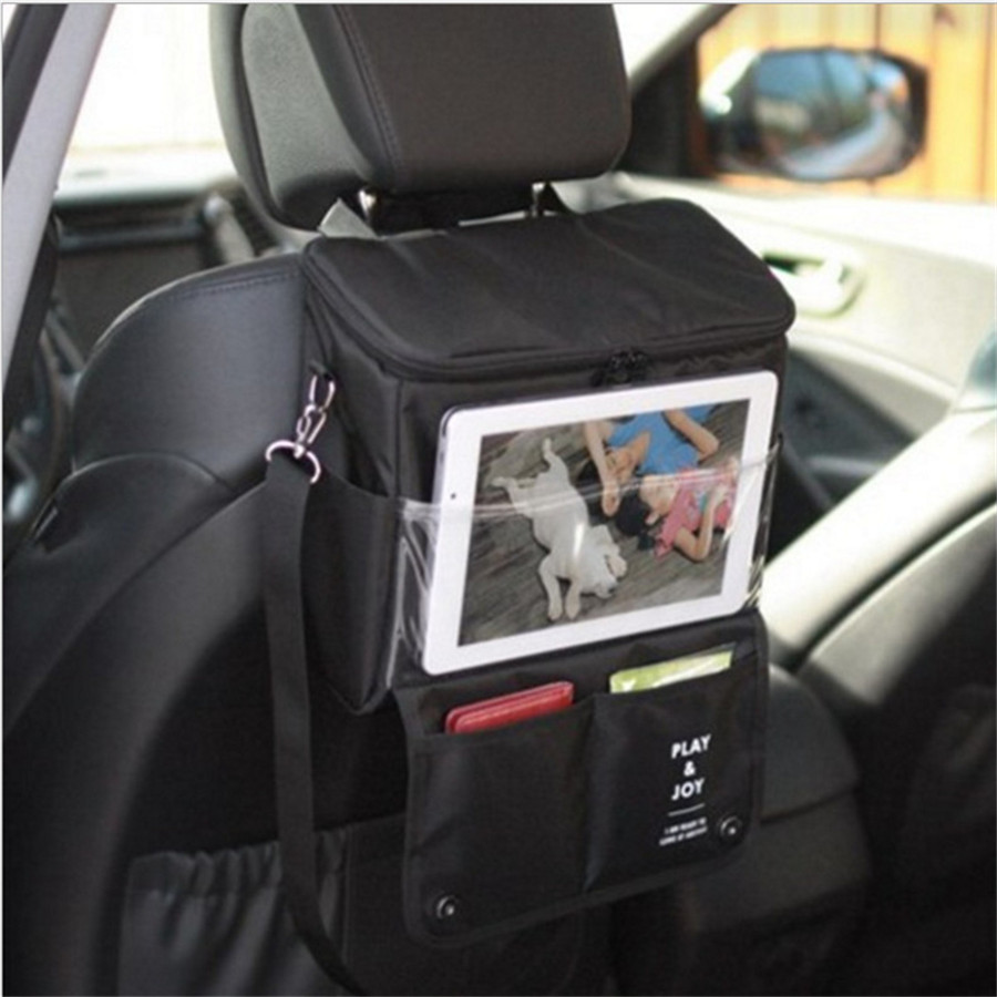 2016 new auto car seat back organizer holder multi pocket travel food bottle storage hanging bag. Black Bedroom Furniture Sets. Home Design Ideas