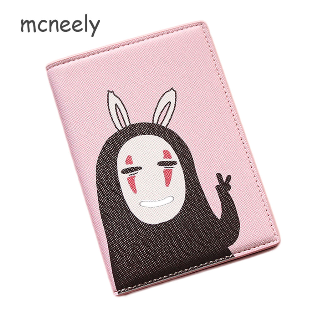Mcneely Japan Style Spirited Away Passport Covers Travel Accessories Creative ID Bank Card Bag Women Passport Business Holder