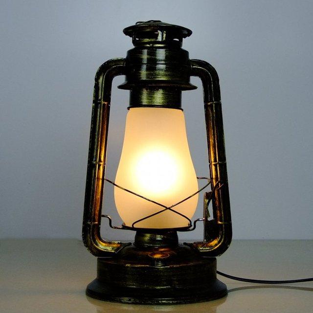 Fashion Kerosene Table Lamp Nostalgic Vintage Kerosene
