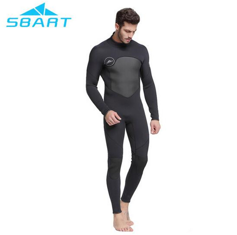 SBART 3mm Neoprene Scuba Dive Wetsuit For Men Spearfishing Wet Suit Surf Diving Equipment One Piece Full Body Wetsuits sbart 3mm neoprene diving wetsuit men