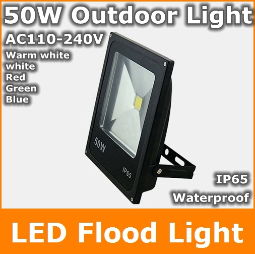 Waterproof 50W LED Flood Light Floodlight Warm Cool White red green blue LED Outdoor Lighting Lamp for Garden External wall 30% off 2pcs ultrathin led flood light 50w black ac85 265v waterproof ip66 floodlight spotlight outdoor lighting free shipping