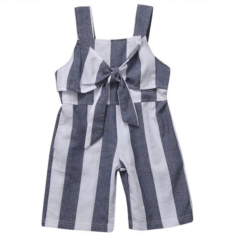 Stylish Toddler Kids Girls Stripe Bodysuit Romper Jumpsuit Playsuit Cute Outfit