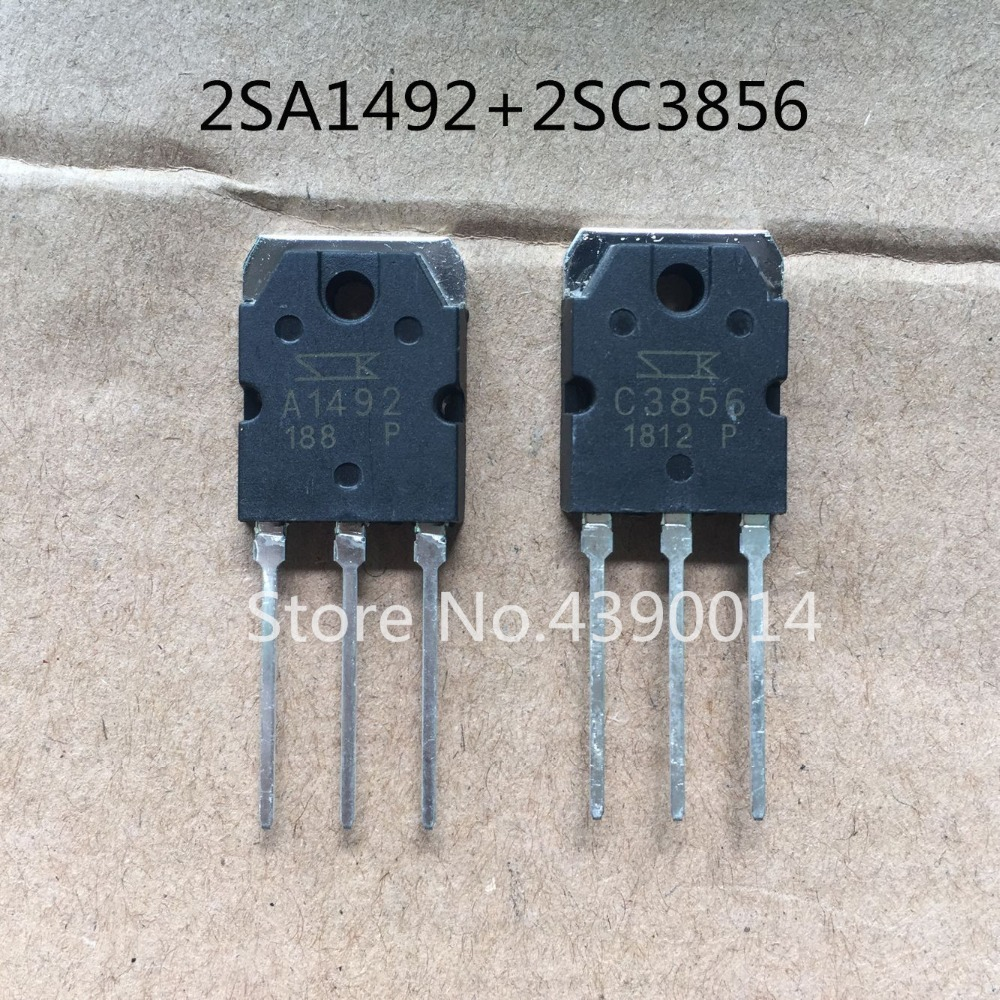 50pcs 2SA1492 A1492 + 50pcs 2SC3856 C3856 free shipping 20pcs lot 2sa1492 a1492 pnp to 3p new original