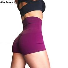 Лидер продаж шорты для йоги Для женщин быстросохнущие Спортивные шорты Running Шорты Drawstring эластичный Колготки Шорты с высокой талией, для фитнеса дно