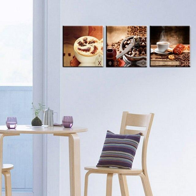 Stampe Per Cucina Moderna.3 Pannelli Cucina Moderna Caffe Te Stampe Su Tela Opere Di