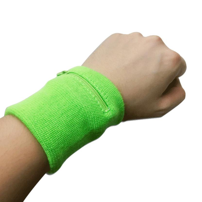 KLV Wrist Support Brace Wallet Running Cycling Tennis Sports Money Key Bag #@T