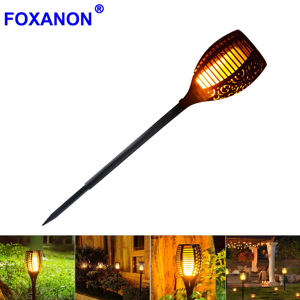 New Solar Flame Led Flame Light Fire Effect Lawn Lamps