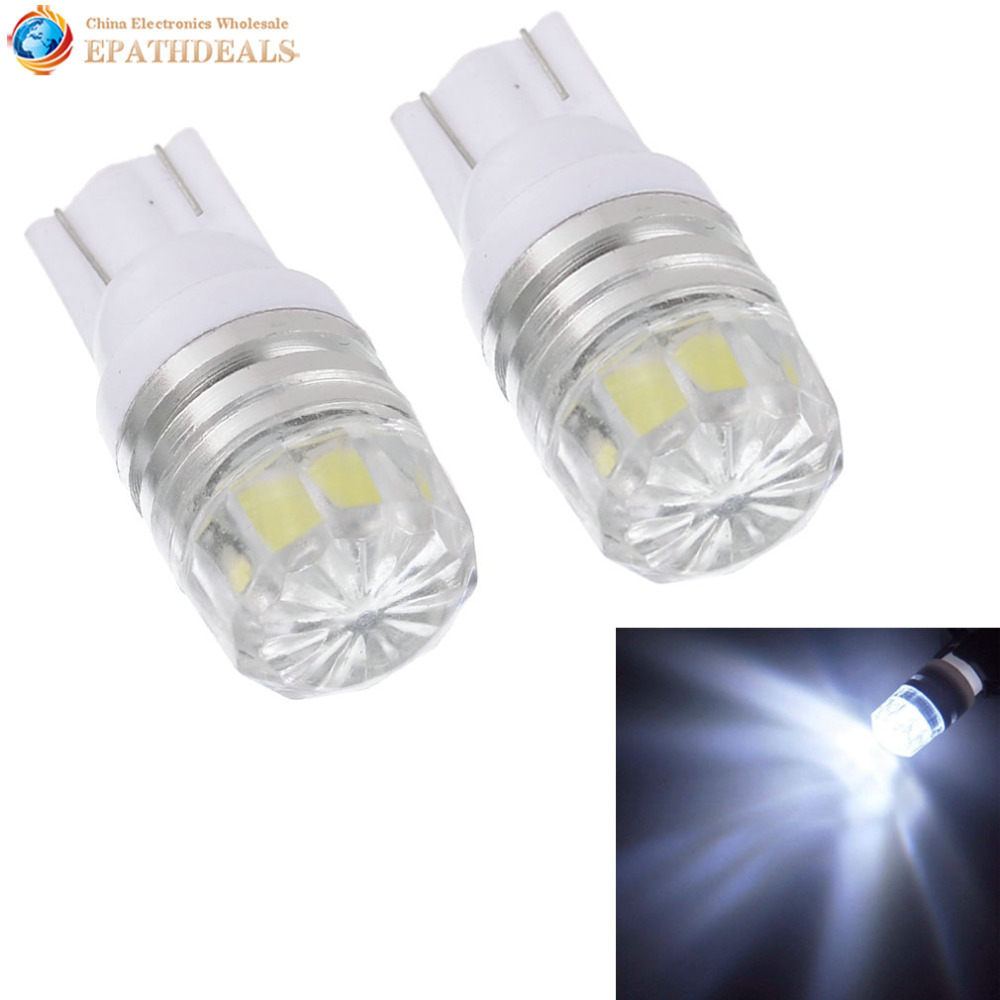 2pcs! White 360 Degree Auto Car Interior Light Bulb T10 168 W5WB 2825 LED License Plate Dome Map Light Lamp cawanerl car canbus led package kit 2835 smd white interior dome map cargo license plate light for audi tt tts 8j 2007 2012