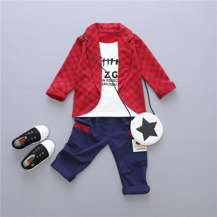 Spring Autumn Baby Boys Girls Formal Clothing Sets Toddler Fashion Clothes Children T-shirt Pants 2Pcs Suits Kids Tracksuits 3pcs children clothing sets 2017 new autumn winter toddler kids boys clothes hooded t shirt jacket coat pants