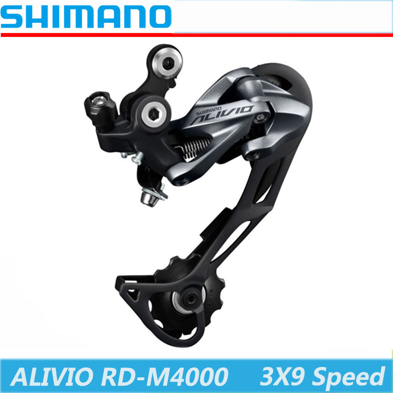 Bicycle Derailleur Rd M4000 Shimano Alivio Derailleur 9 Speed Rd-m4000 Rear 3s*9s 27s Speed Accessory Shifter Shift Mountain Mtb Bike Bicycle Parts