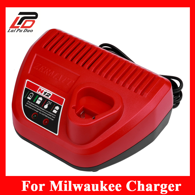 NEW Replacement charger For Milwaukee 12V Li-ion Charger Milwaukee M12 12 Volt 48-59-2401 48-11-2402 New 3pcs 12v lithium ion 1500mah power tool rechargeable battery with charger replacement for milwaukee m12 48 11 2401 48 11 2402 page 7
