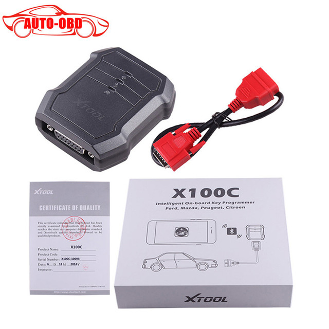 Original XTOOL X100 C Auto Key Programmer Xtool X-100 C for iOS and for Android Xtool X100 C For Ford/Mazda/Peugeot/Citroen
