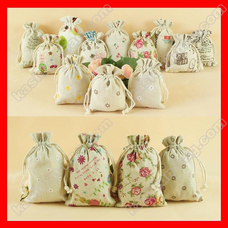(200pcs/lot) Wholesale printed fabric bag gift