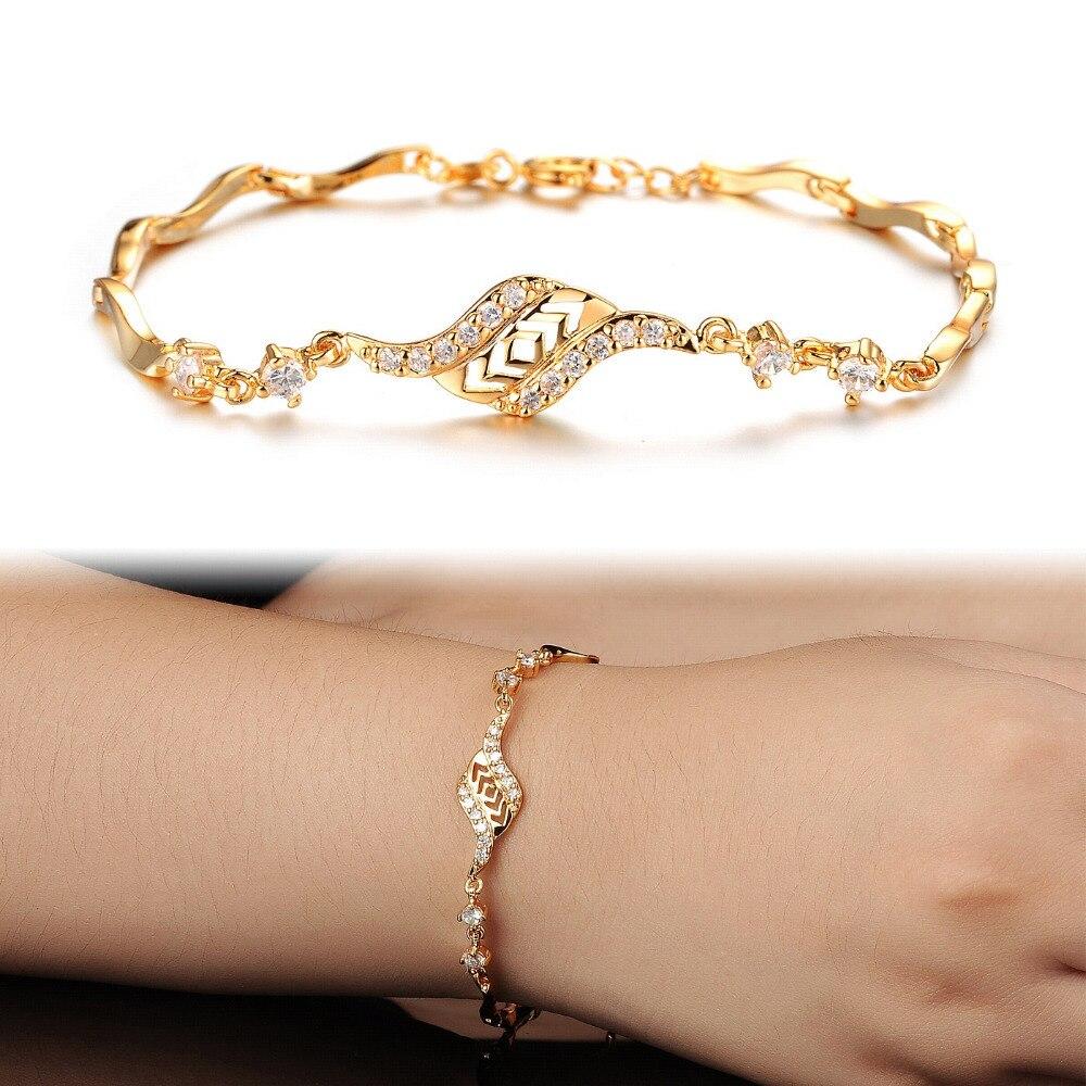 7SEAS Fashion Women Wedding Bridal Link Chain Bracelet, Luxury ...