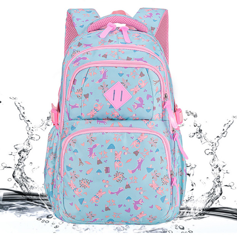 Big Capacity Cartoon Rabbit Printing Girl School Bag Kid Backpack Zipper Backpacks School Bags For Teenagers Girls Mochilas