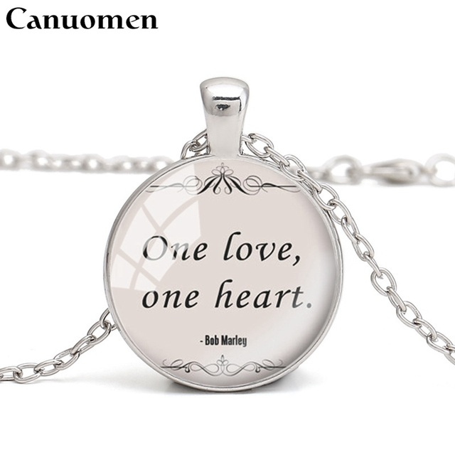 Lyrics Quote Inspirational Music Necklace From Bob Marley Song
