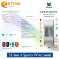 Originl Hesvit S3 Bluetooth Smartband Sport Fitness Bracelet Pedometer Heart Rate Sleep Monitor Wristband for iphone 7/5s xiaomi