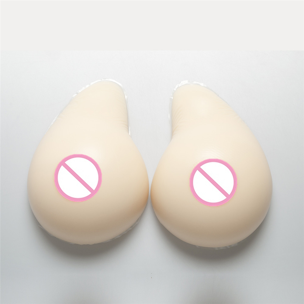 1400g/Pair Silicone Crossdress Boobs Breast Prosthesis Drag Queen Transsexual Shemale False Breast Form Fake Boobs silicone breast forms realistic prosthesis enhancer strap on fake boobs for drag queen crossdress shemale fake breast