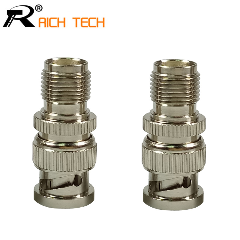 1pc High quality BNC connector Nickel Plated BNC Male Plug to TNC FeMale Adapter RF Coax Wire connector rf coaxial cable rg142 sma male plug switch tnc female bulkhead adapter 50cm 20 high quality low attenuation