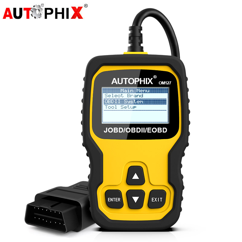 Autophix OM127 Automotive Scanner OBD2 Diagnostic Tool for TOYOTA HONDA NISSAN JOBD Code Reader Scanner with Russian Language