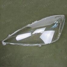 Farol dianteiro farol tampa da lâmpada de vidro sombra abajur transparente shell para Honda Fit hatchback 08-10 2 pcs