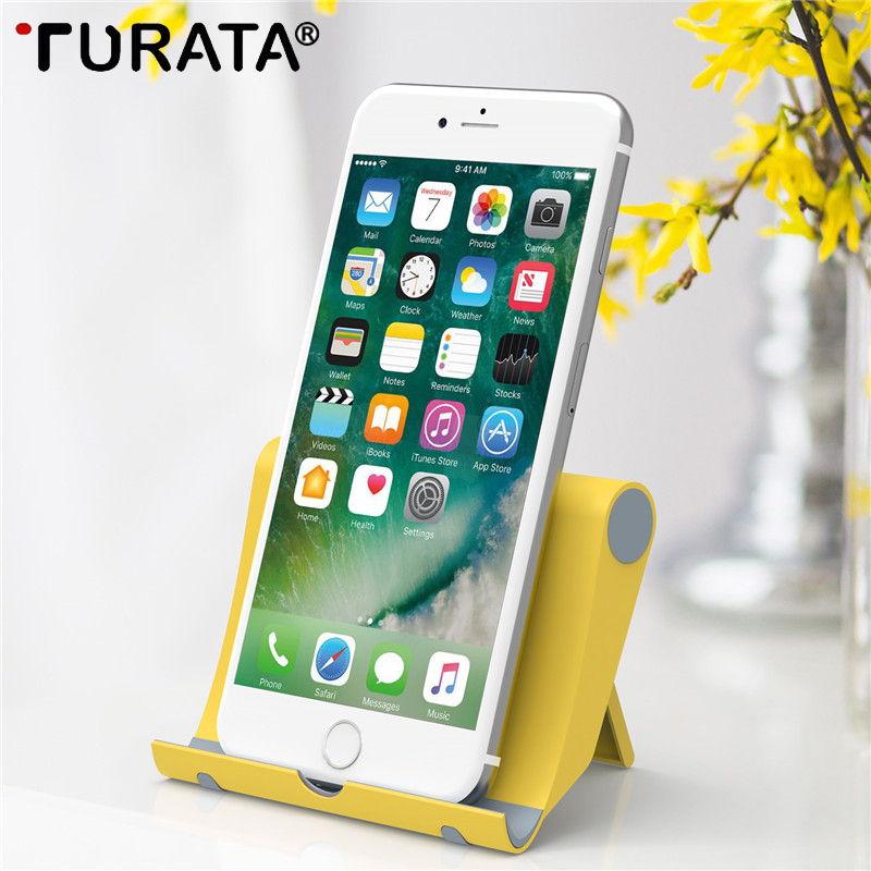 Turata Pop Mobile Phone Holder For iphone Samsung Flexible Dest Phone Stand Universal Desk Holder For Huawei Xiaomi ipad Tablet