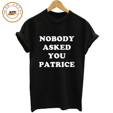 Plus Size Top XXXL Women T shirt NOBODY Funny Printed Letters T Shirts Summer Style Basic T shirt Cotton Unisex Couple Tees