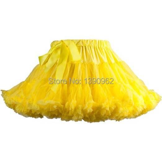 Girls Yellow Tutu Skirt Party Dance Ball Gown Above Knee Mini Princess Tutus Kids Clothes Girls Skirts