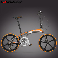 High Quality 20 Inch Folding Bike, Front & Rear Disc Brake, Portable Bicycle, Magnesium   Alloy Integrated Wheel